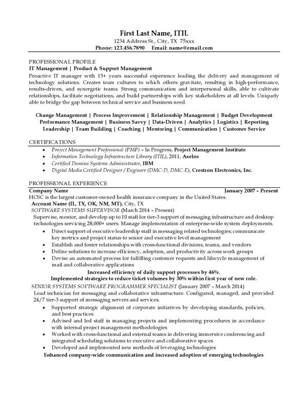 resume examples professional progressions